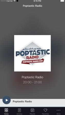 Appli Poptastic Radio pour iPhone