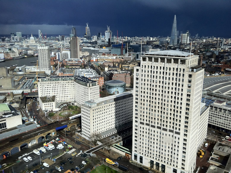 Autre vue depuis la grande roue de Londres