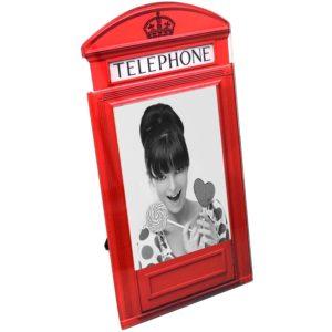 Cadre en verre cabine téléphonique anglaise