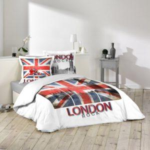 Housse de couette London Rock - Union Jack et Big Ben