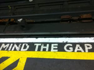 Mind the gap dans le métro de Londres