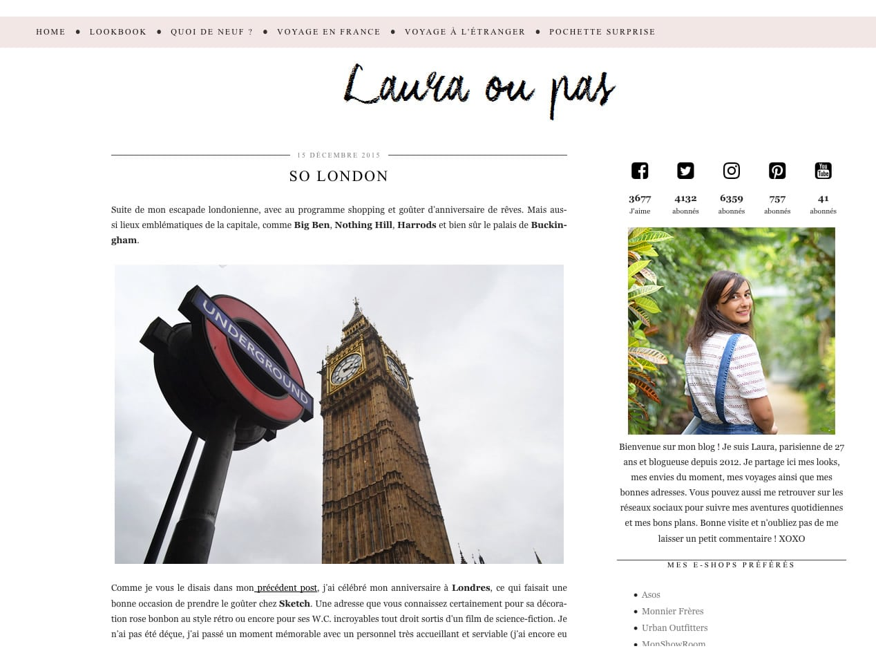 Laura ou pas, photo et mode à Londres
