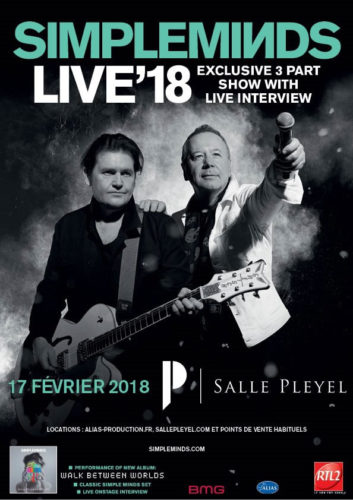 Concert Simple Minds à Paris en 2018