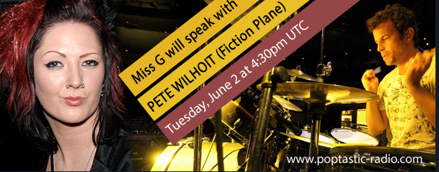 Pete Wilhoit batteur de Fiction Plane, interviewé par Miss G pour Poptastic Radio