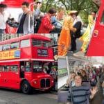 Un bus à Londres pour partie à la découverte des lieux mythiques 60's