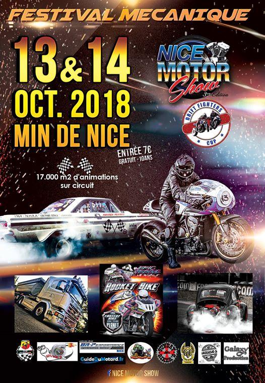 Affiche Nice Motor Show les 13 et 14 octobre à Nice