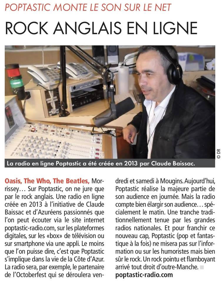 Cnews parle de Poptastic Radio