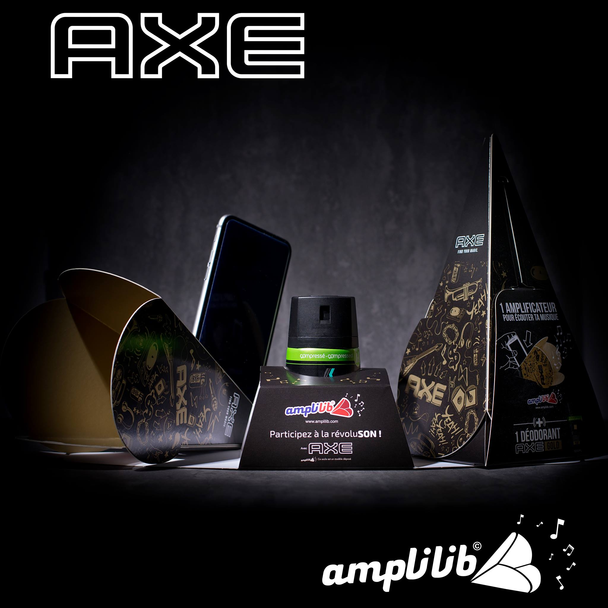 Amplilib support publicitaire Axe