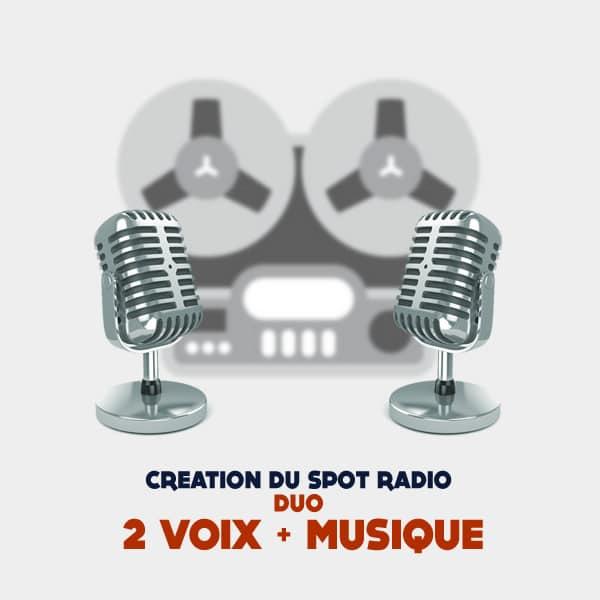 Creation spot publicitaire radio duo