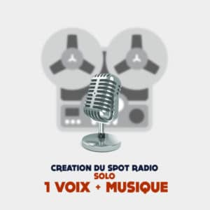Creation spot radio publicitaire solo
