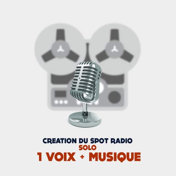 Creation spot radio publicitaire solo