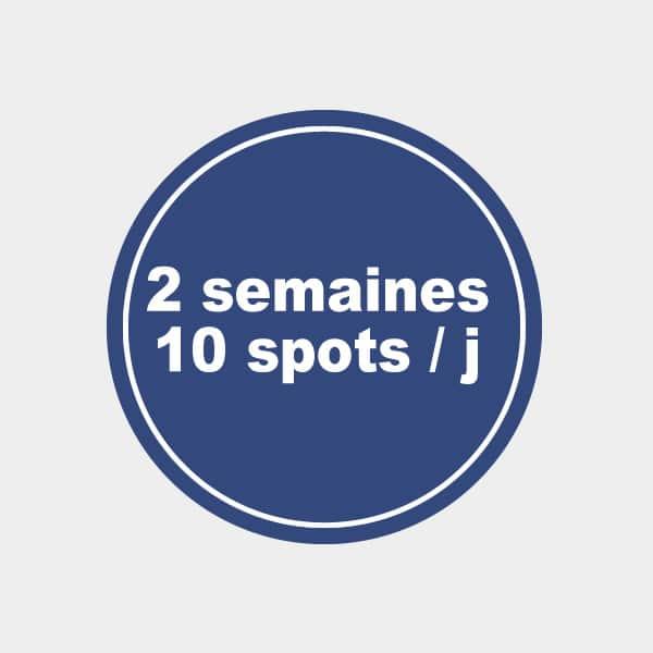 Pub radio 2 semaines 120 spots