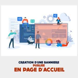Creation bannière page d'accueil