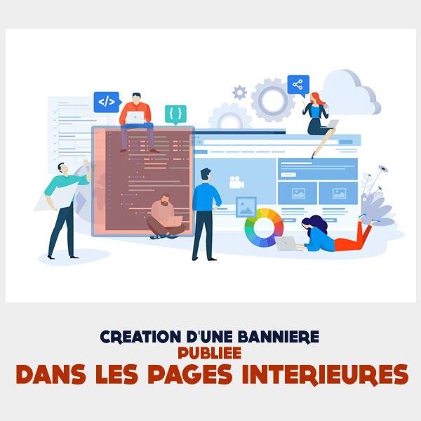 Creation bannière pages intérieures