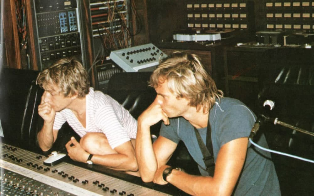 Sting en studio avec Andy Summers