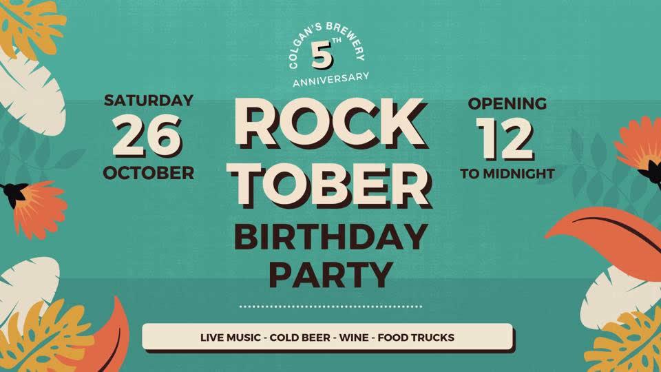 Rocktober anniversaire de la Brasserie Colgan's