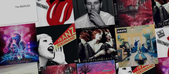Les 10 groupes anglais rock et pop les plus écoutés