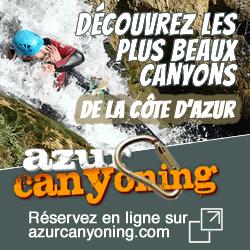 Publicité Azur Canyoning