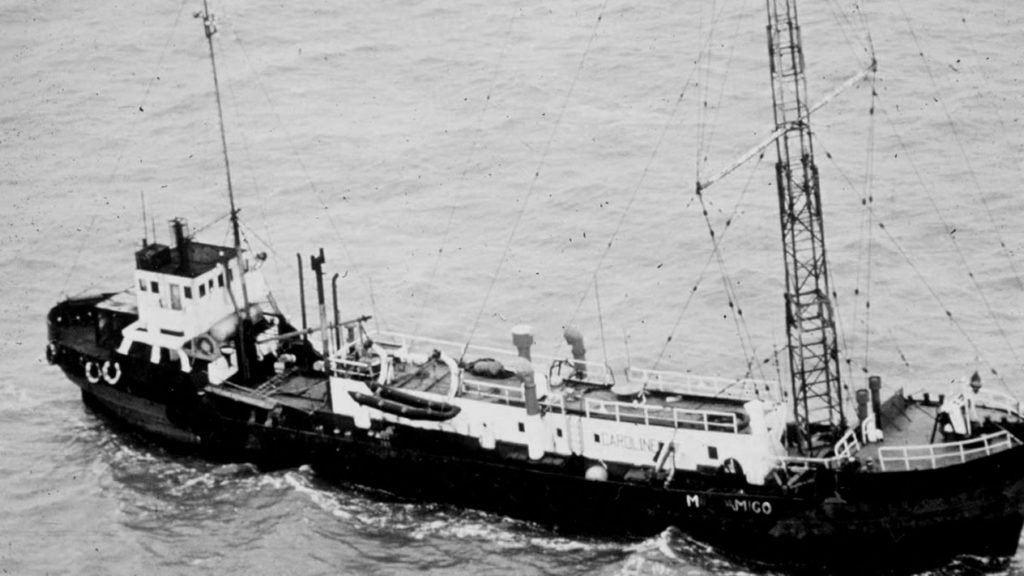 Le bateau de Radio Caroline